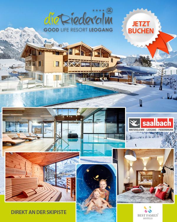 Hotel Die Riederalm - Familienhotel Skipiste Leogang Salzburger Land